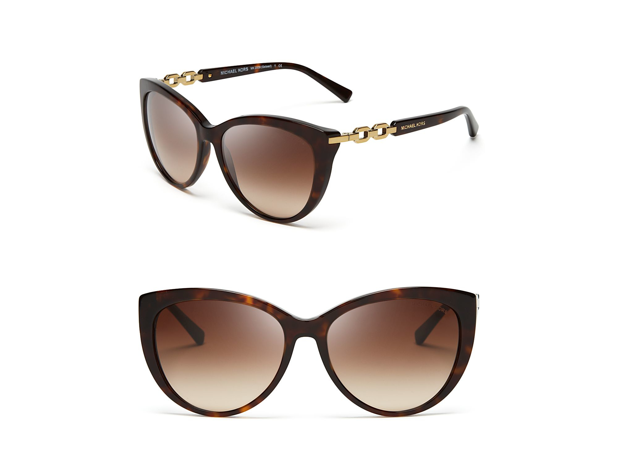Lyst - Michael Kors Gstaad Chainlink Cat Eye Sunglasses in Brown