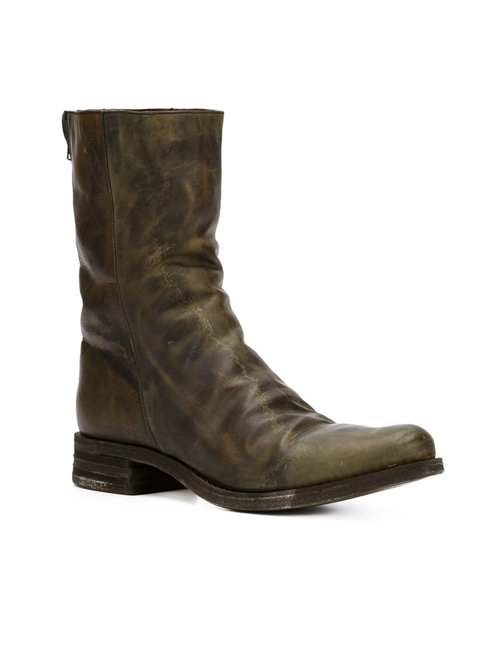 a diciannoveventitre mid calf length boots in brown lyst
