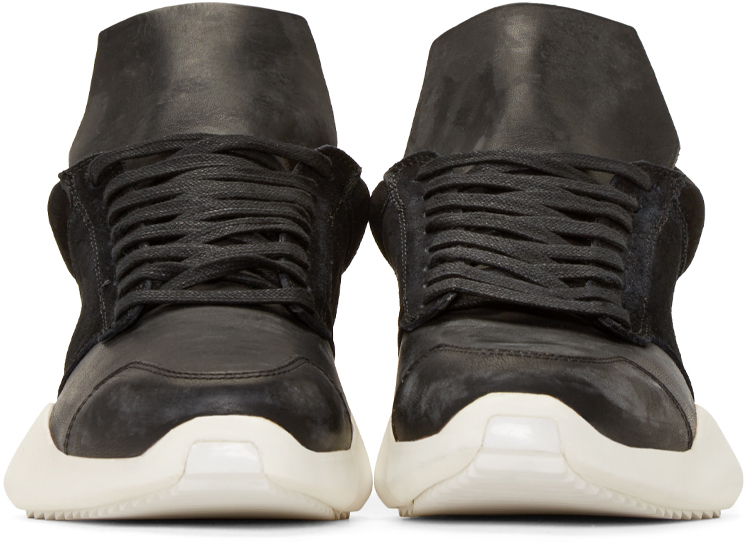 newest fa6ad 8c9cb Lyst - Rick Owens Black   White Island Sole Adidas By Sneakers in ...
