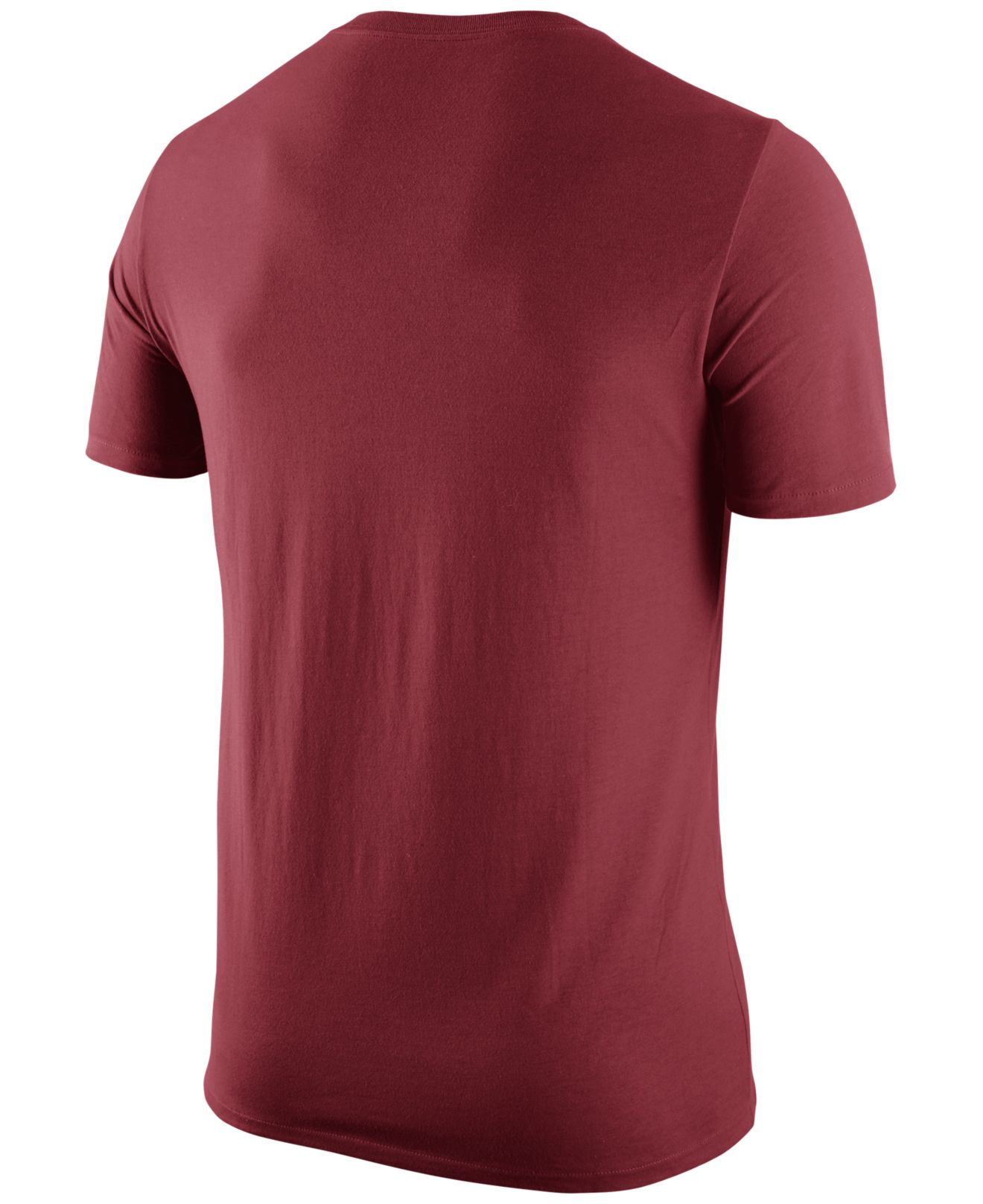 Nike men 39 s alabama crimson tide logo t shirt in red for for T shirt printing mobile al