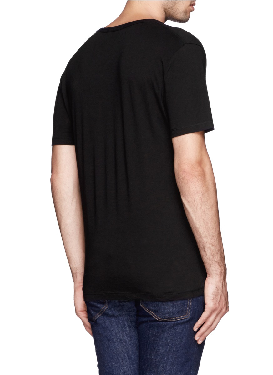 T by alexander wang scoop neck t shirt in black for men lyst for Scoop neck t shirt