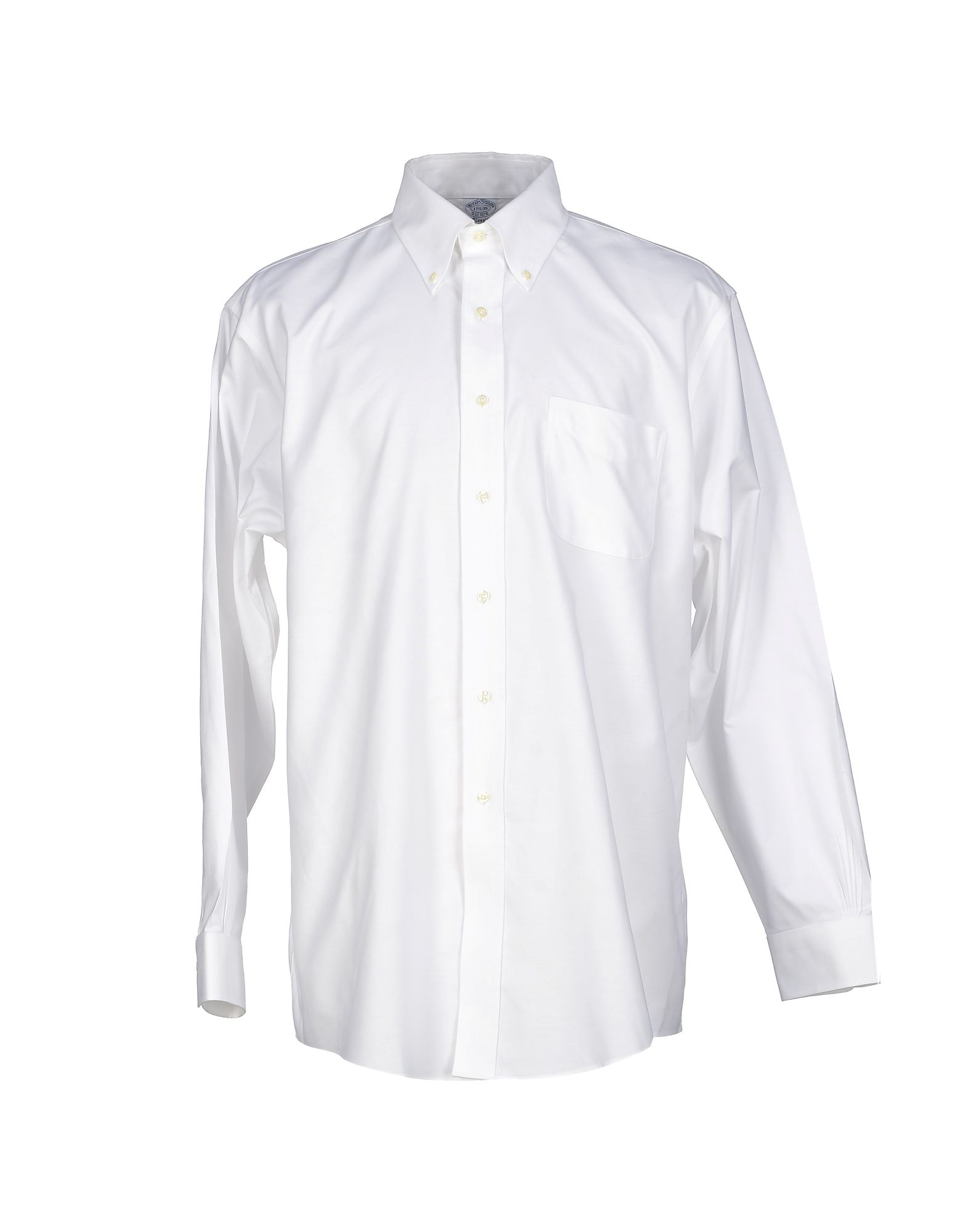 Brooks brothers shirt in white for men lyst for Brooks brothers tall shirts