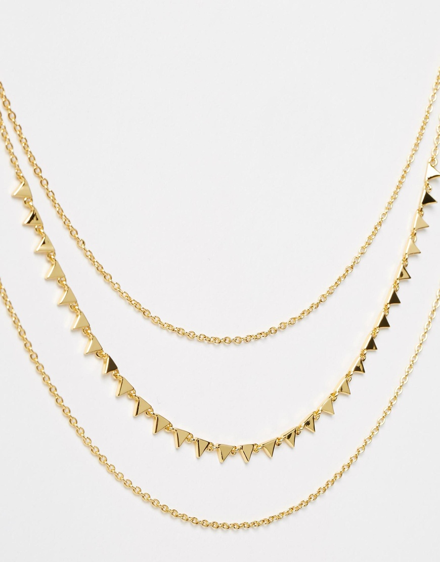 gorjana multi layered necklace in metallic lyst