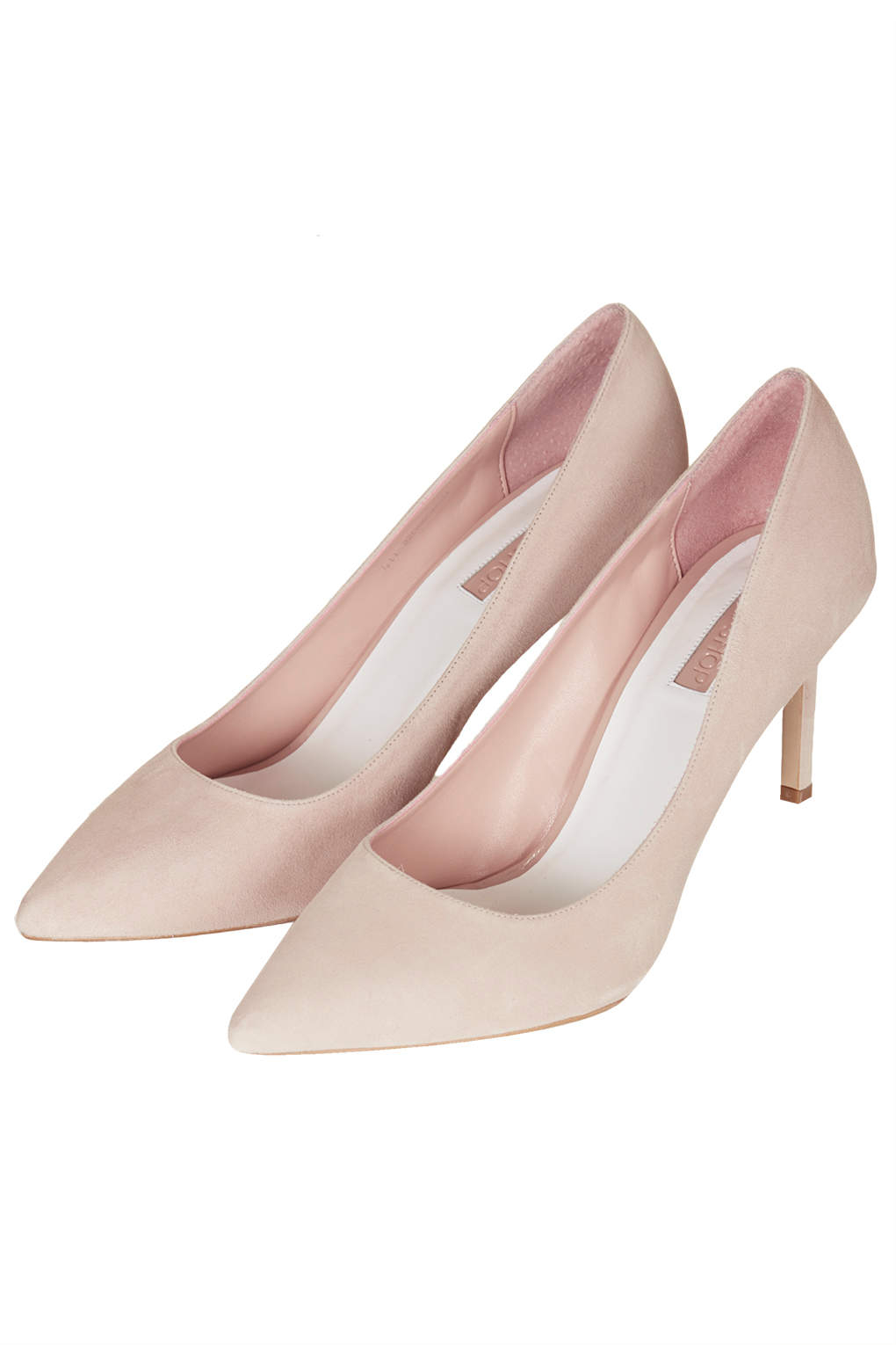 Lyst - Topshop Womens Golden Mid Heel Court Shoes Nude in Pink