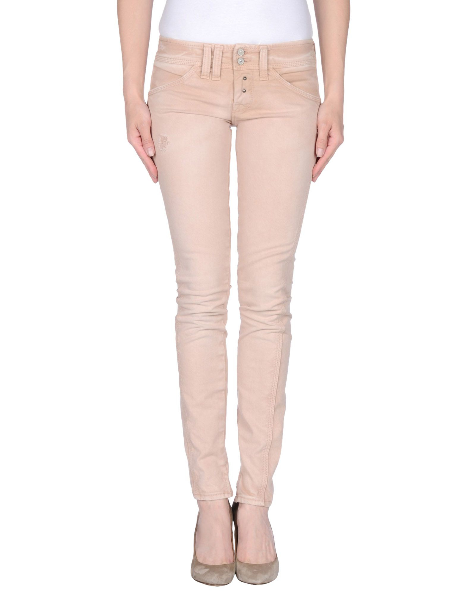 Cycle Denim Pants in Pink (Skin color) | Lyst