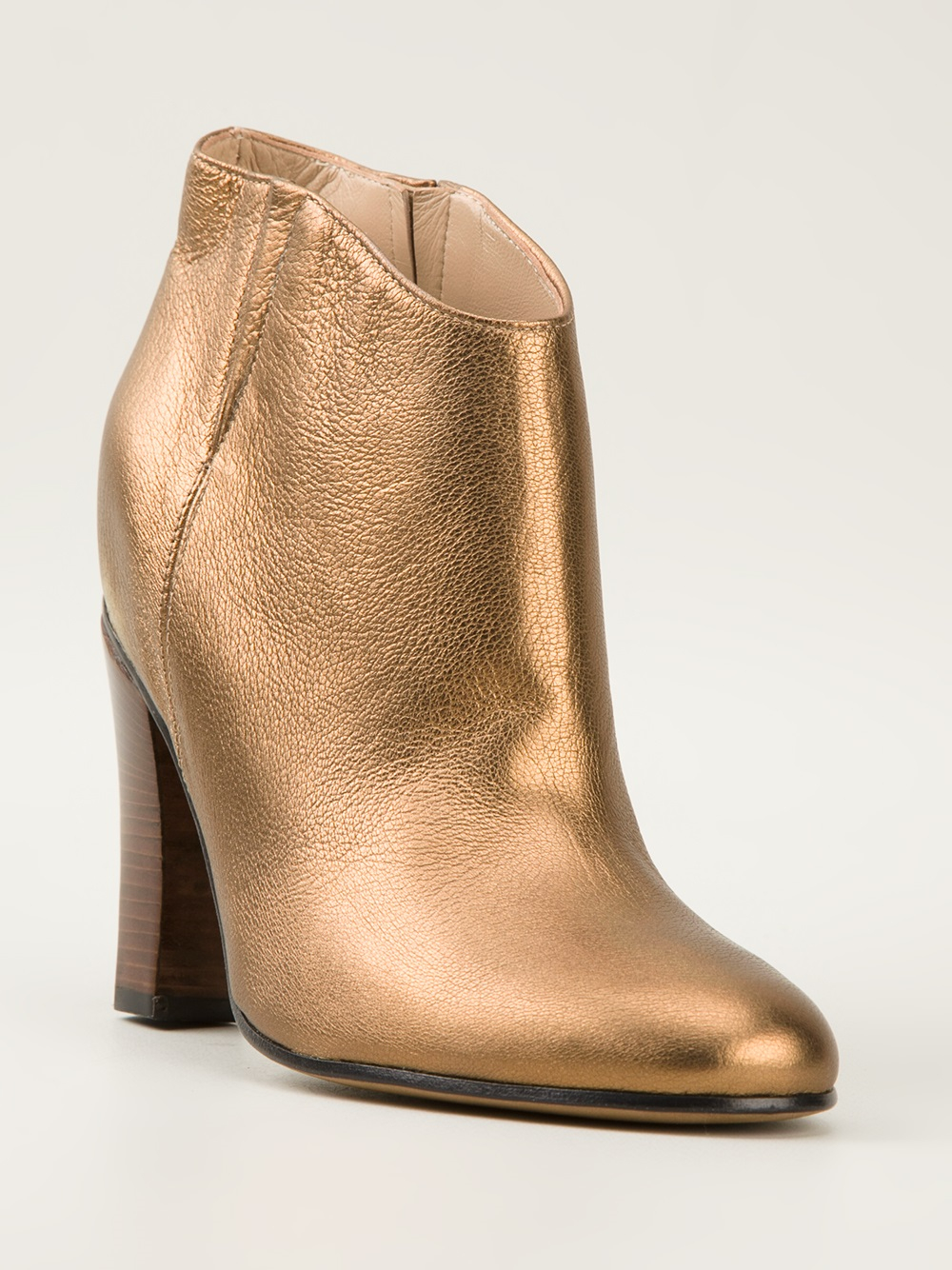 golden goose deluxe brand jen ankle boots in gold