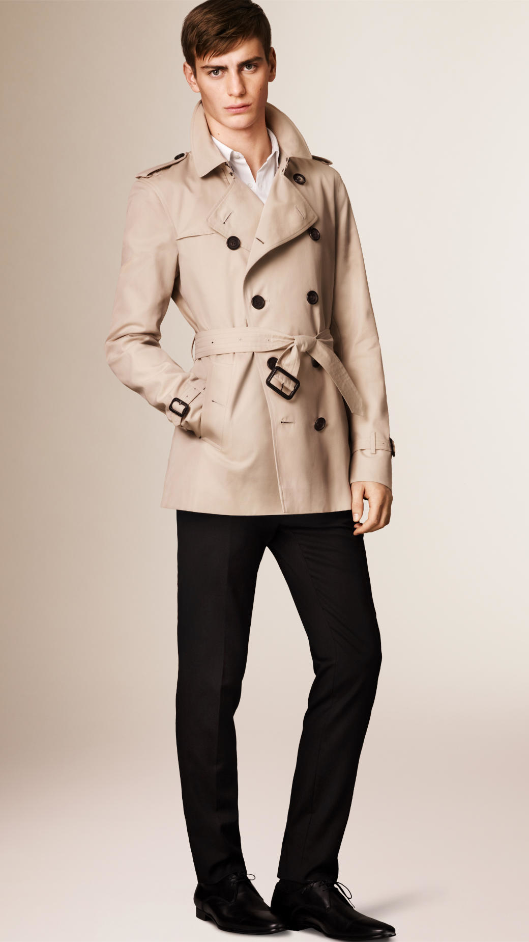 Burberry The Kensington - Short Heritage Trench Coat in Natural ...