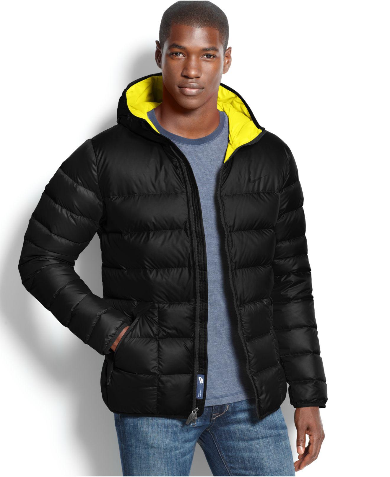 5e7cb1403272 Lyst - Nike Alli Hooded Down Puffer Coat in Black for Men