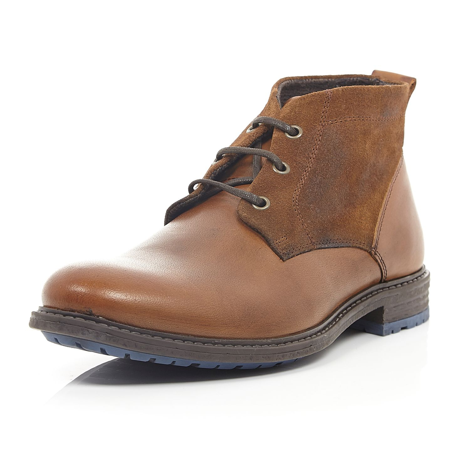 river island brown leather chukka boots for lyst