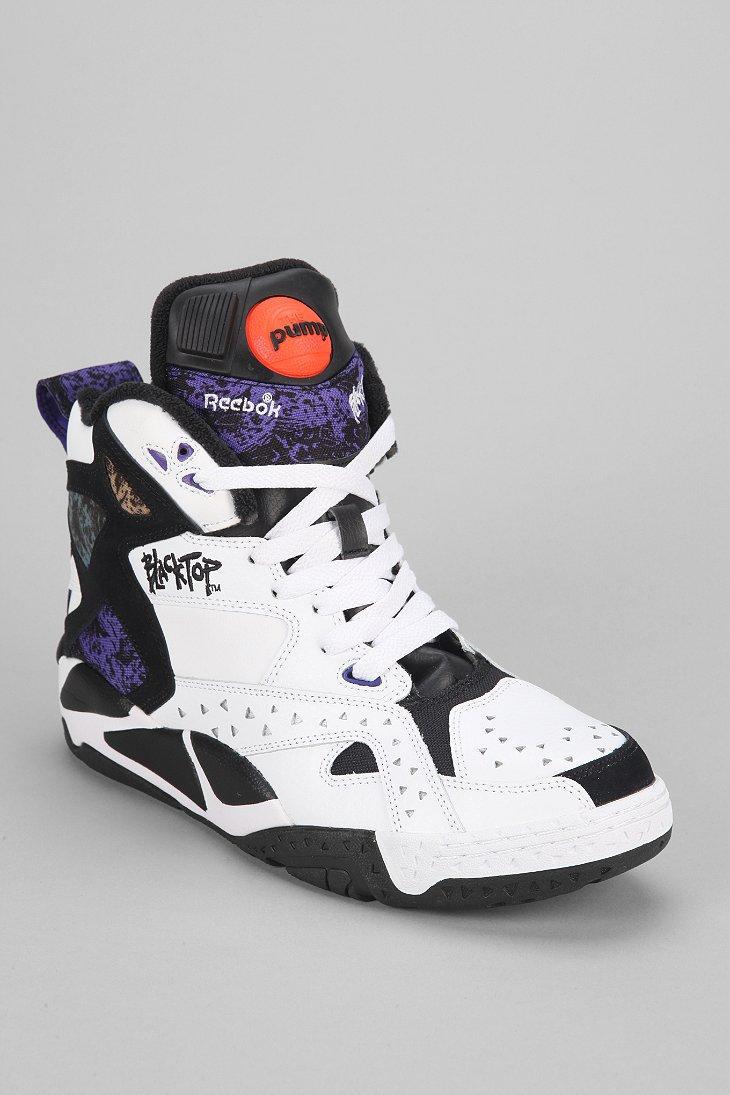 Reebok Blacktop Battleground High-Top Sneaker In White For