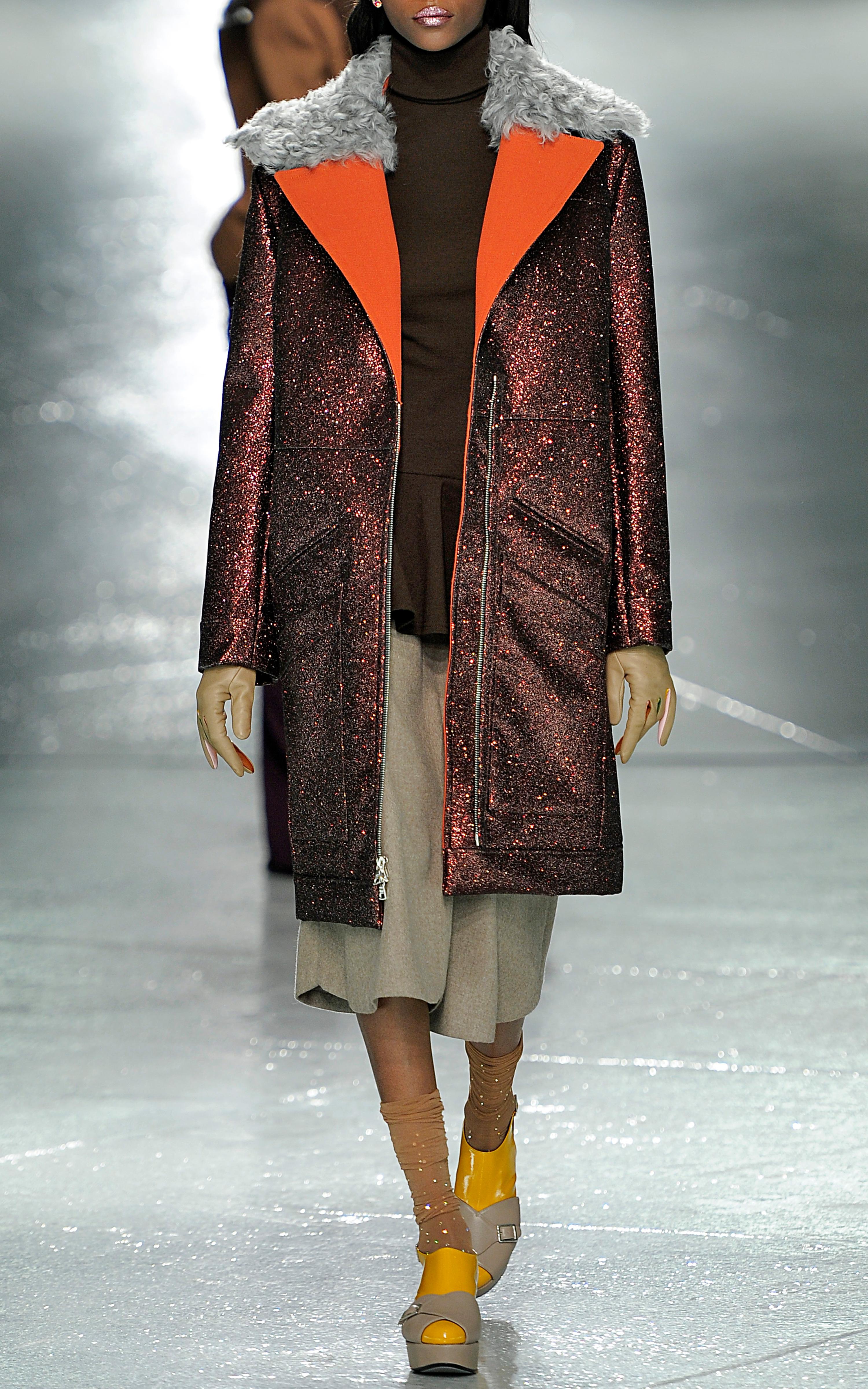9614decdc999 Lyst - Rodarte Tan Doubleface Wool Gored Skirt in Brown