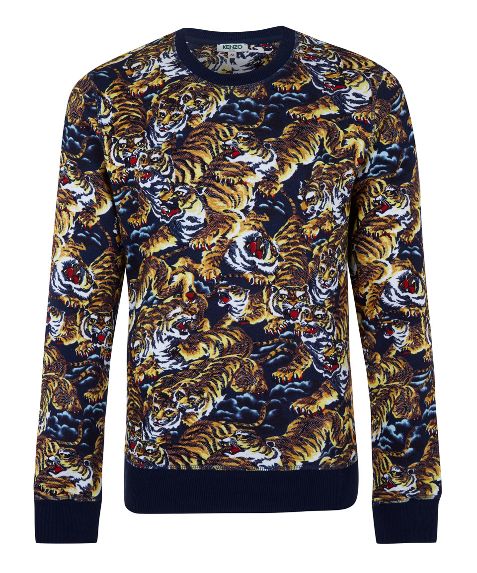 e1db67f140 KENZO Brown Cotton Flying Tiger Sweatshirt in Brown for Men - Lyst