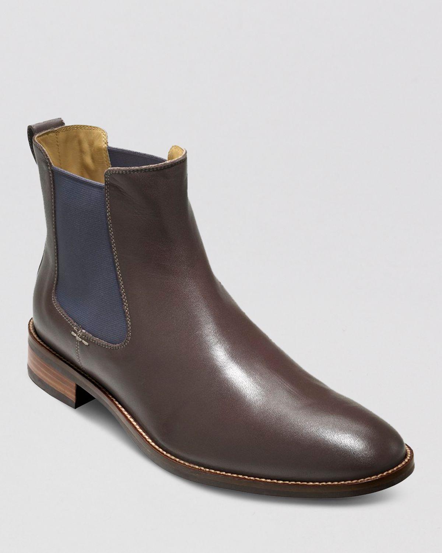 cole haan lenox hill waterproof chelsea boots in brown for