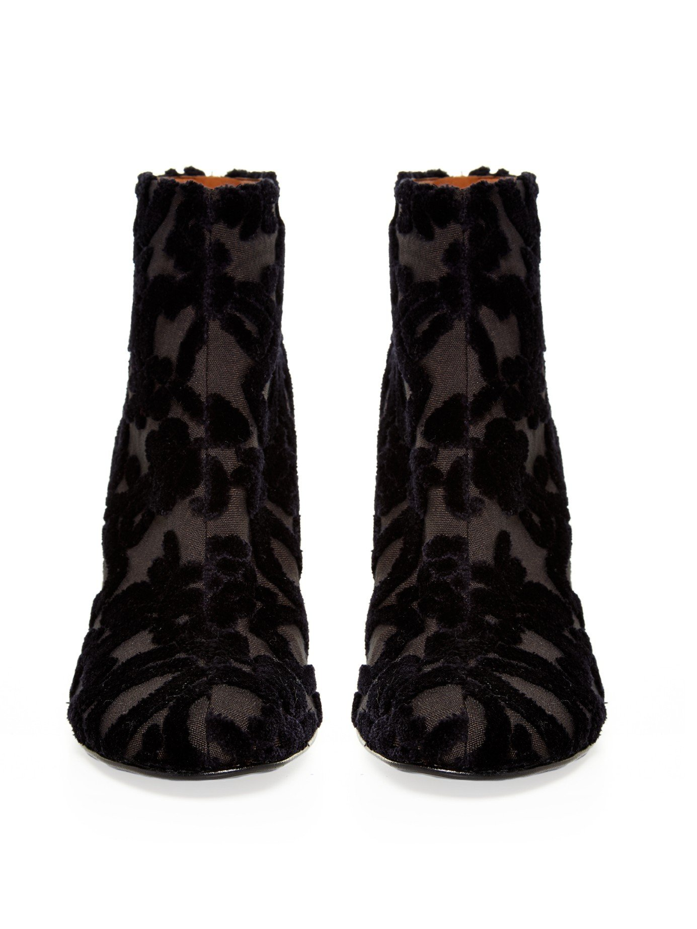 Stella McCartney Black Pony Lace-Up Boots gcDdHAAiGQ