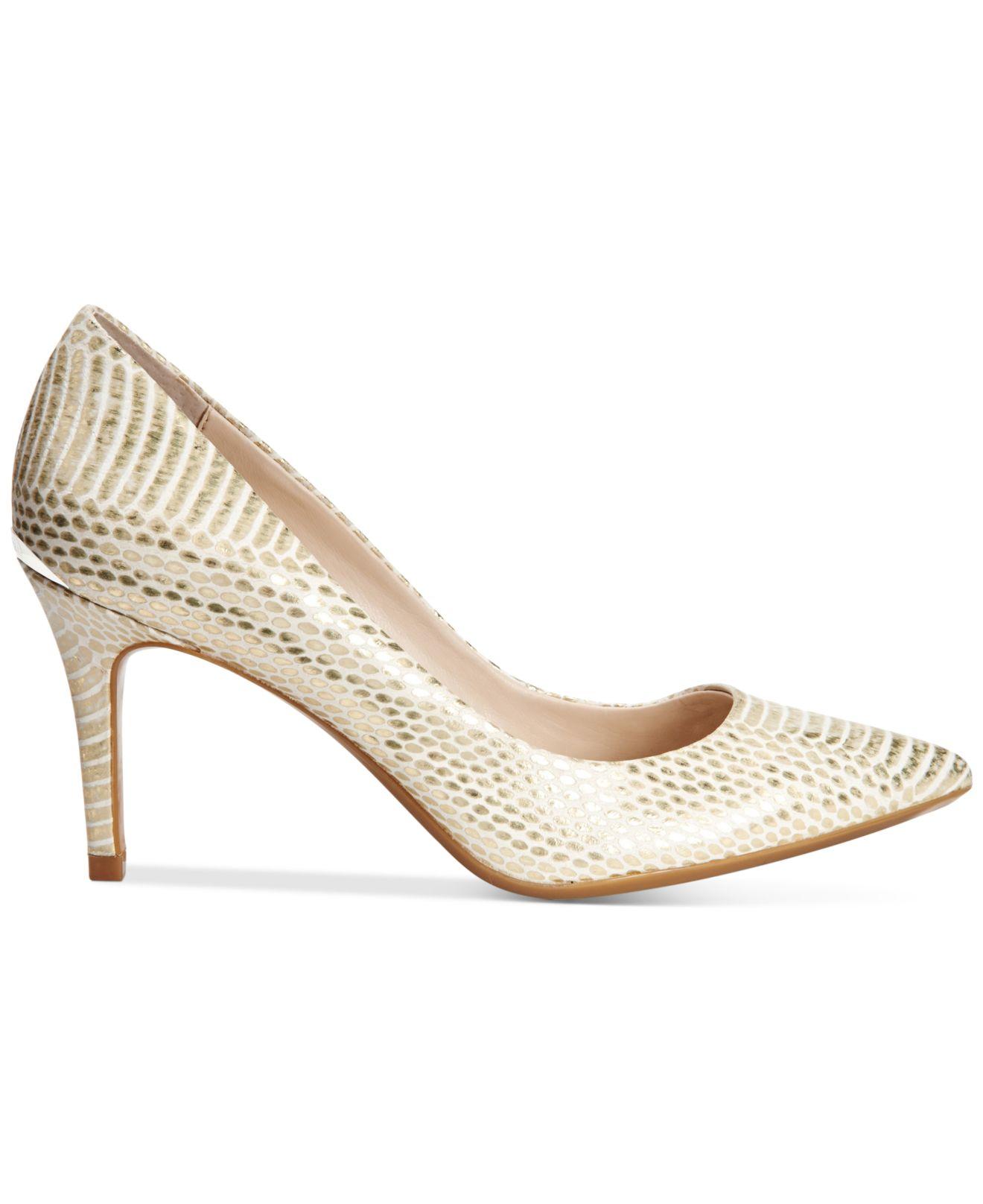 f203763604 Calvin Klein Women's Gayle Pointed-toe Pumps in Metallic - Lyst