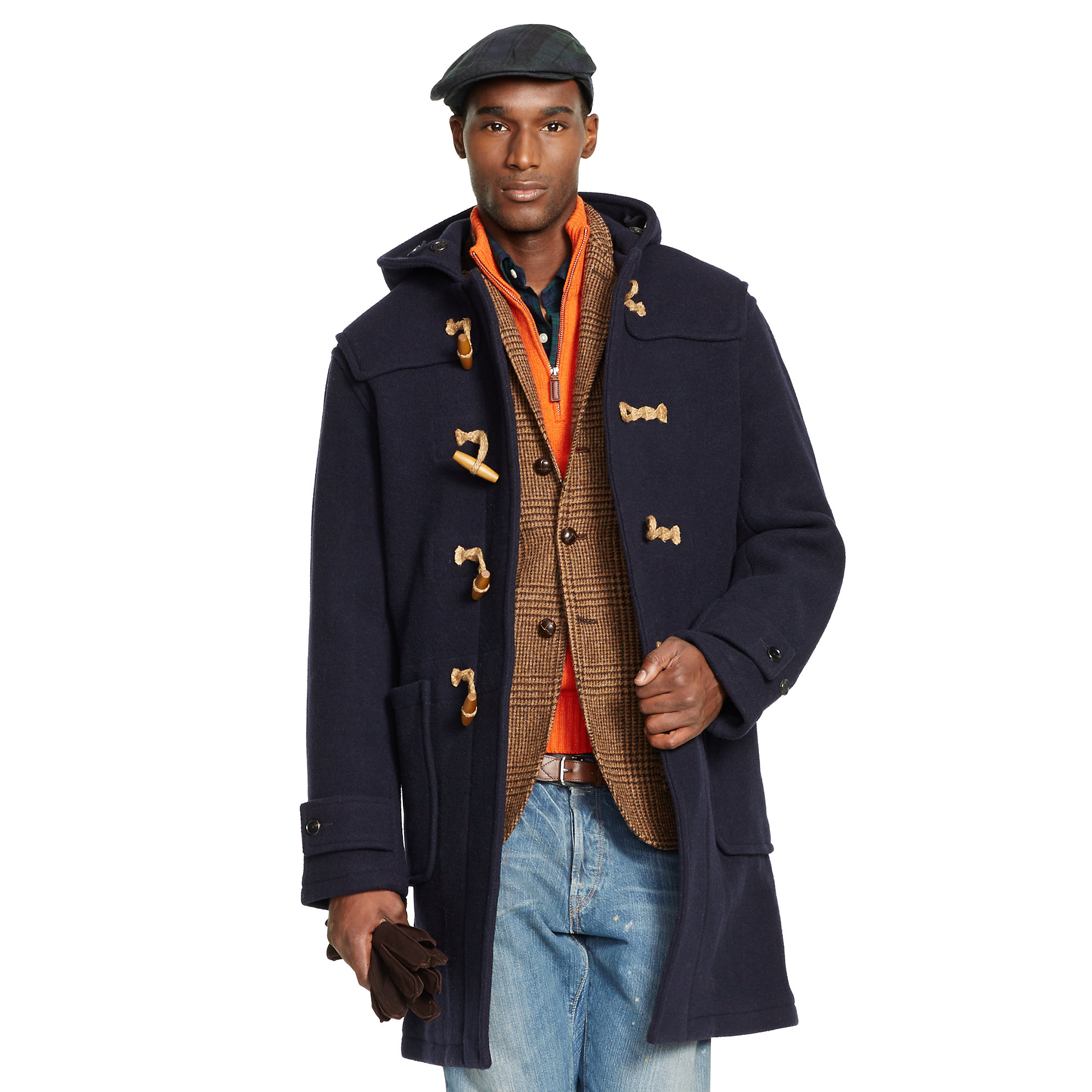 Lyst Polo Ralph Lauren Hooded Wool Toggle Coat In Blue Interiors Inside Ideas Interiors design about Everything [magnanprojects.com]
