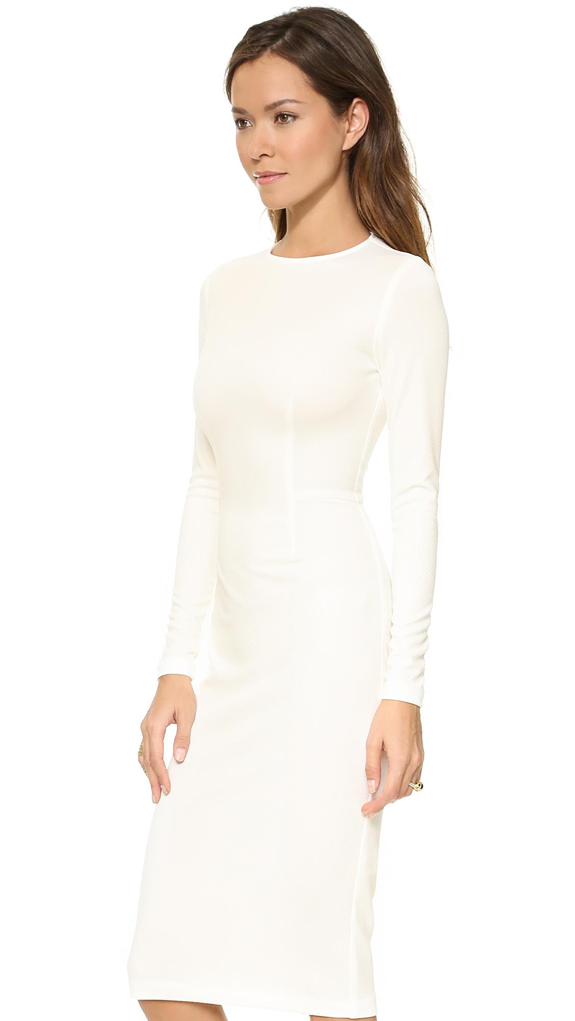 Wedding White Long Sleeve Dress 5th mercer long sleeve dress in white lyst gallery