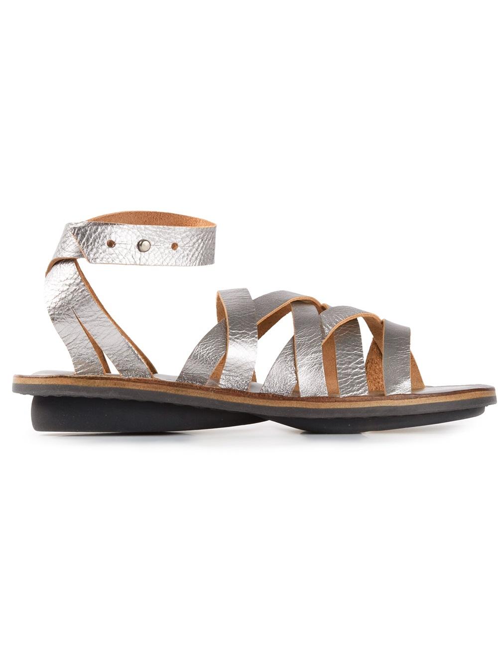 Lyst Trippen Nepal Sandal In Metallic