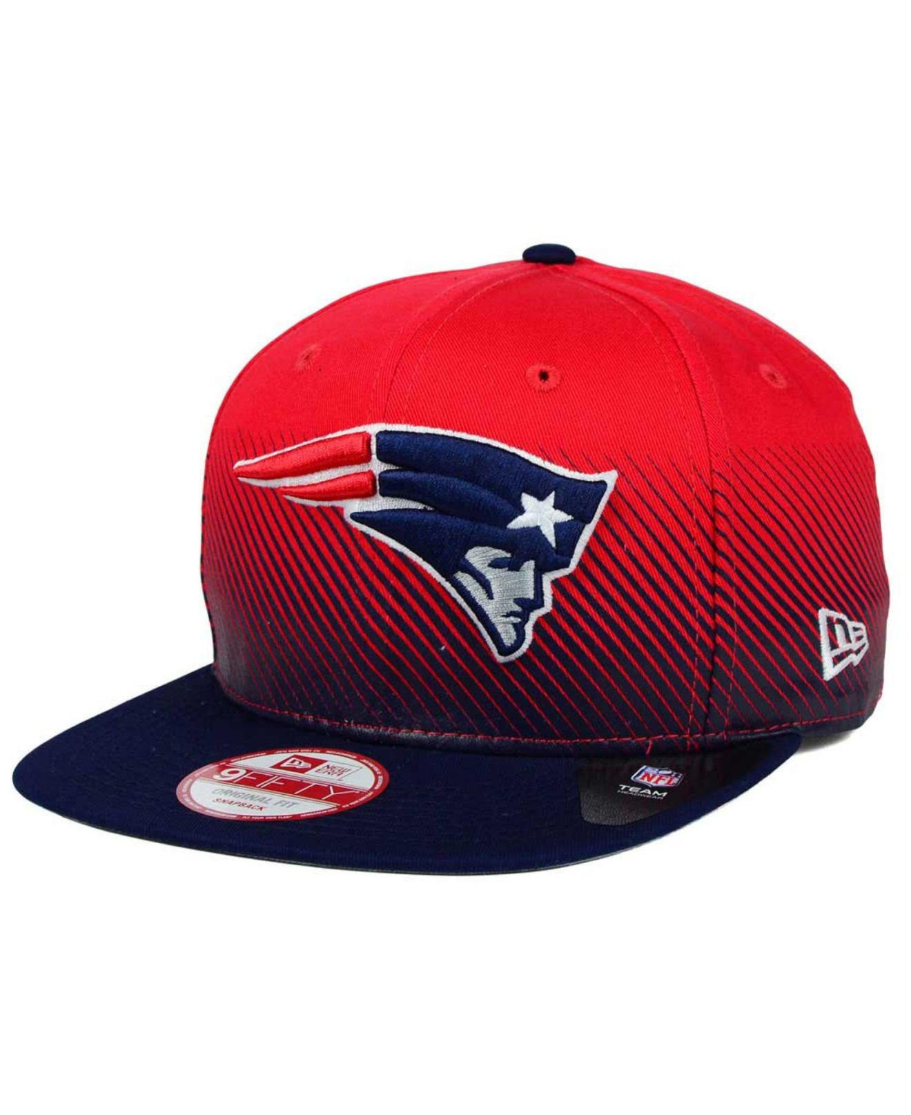 sports shoes fa3ad daa72 KTZ New England Patriots Line Fade 9fifty Snapback Cap in Red for ...