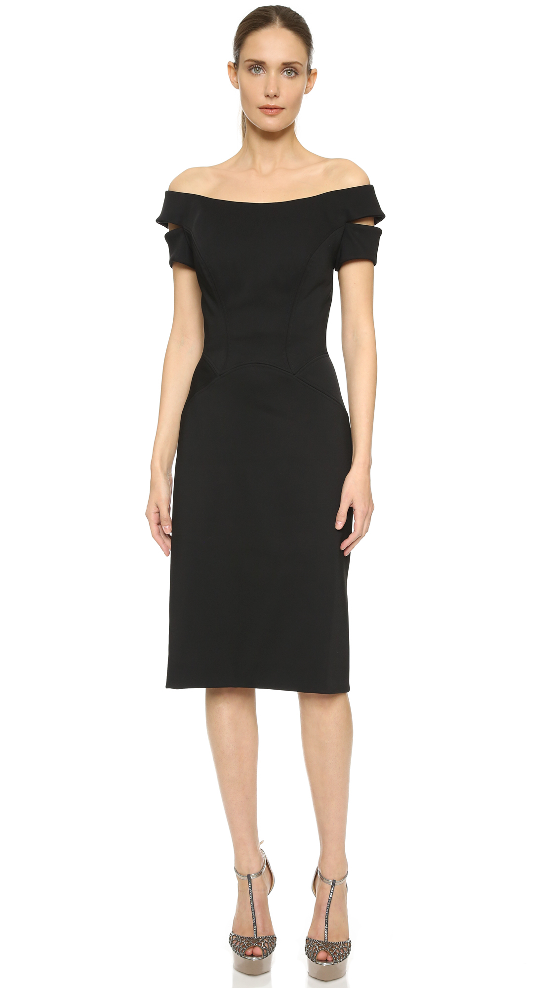 Zac posen Sleeveless Dress - Black in Black  Lyst