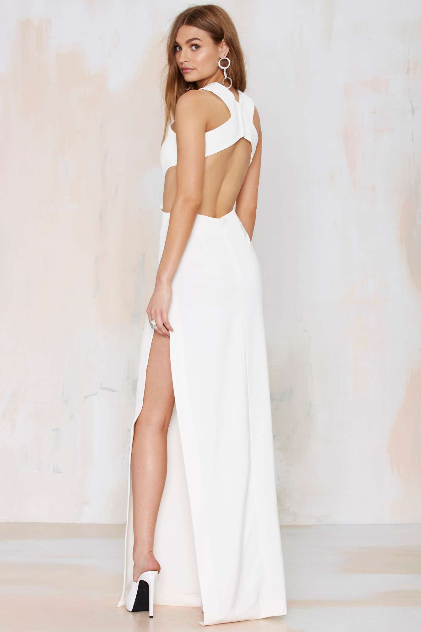Nasty Gal Solace London Mona Cutout Maxi Dress In White Lyst