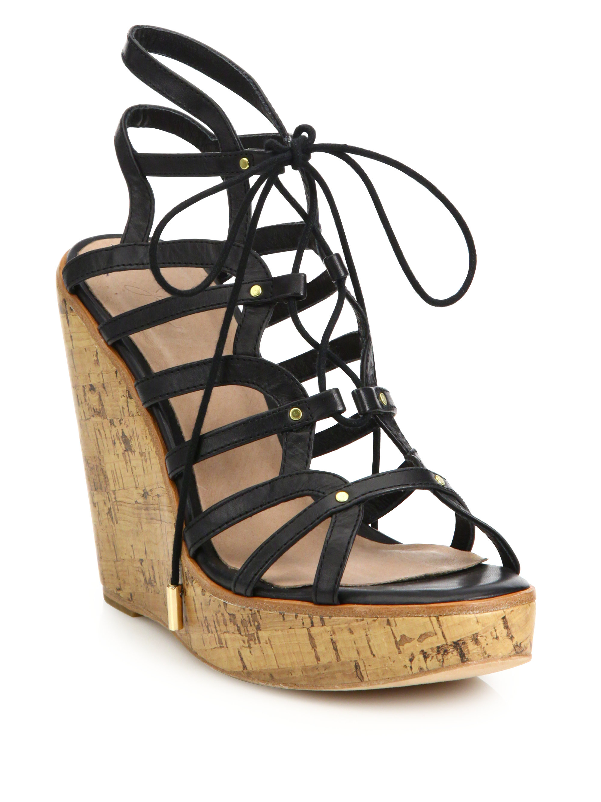 512027b36889 Lyst - Joie  larissa  Platform Wedge Sandal in Black