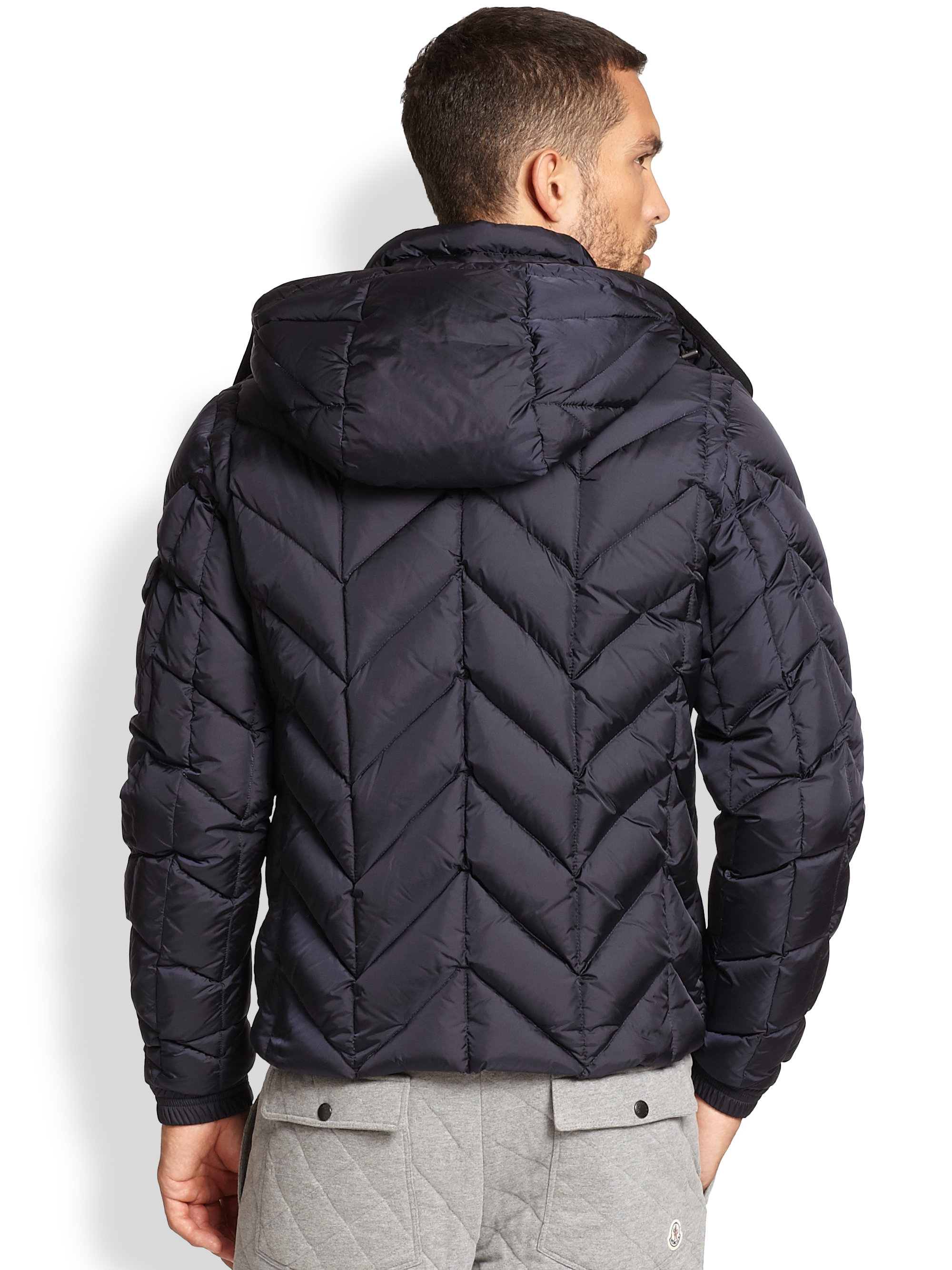 Moncler Chevron-quilted Shell Jacket