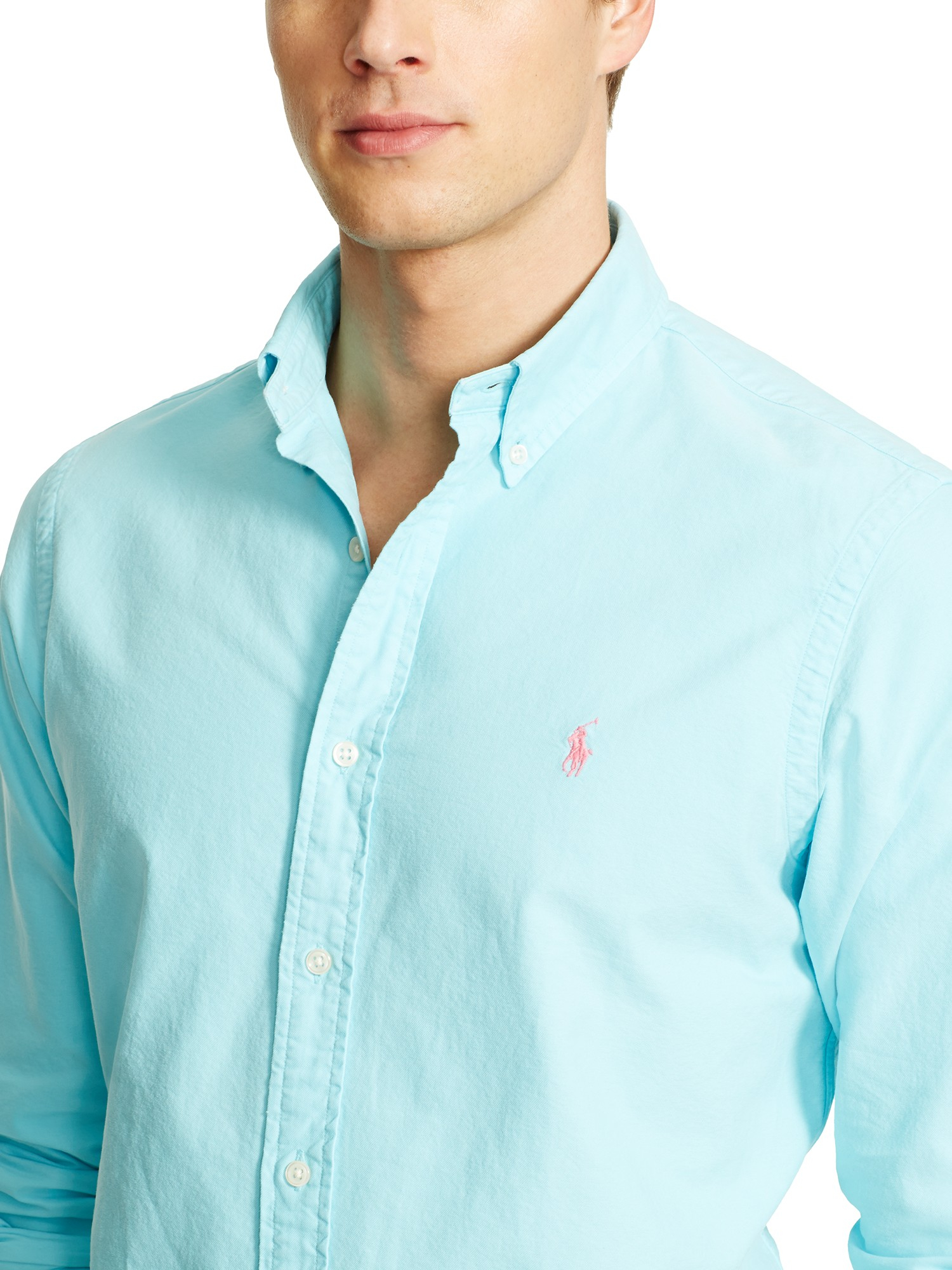 9e7787334f04 Polo Ralph Lauren Slim Fit Oxford Shirt in Blue for Men - Lyst