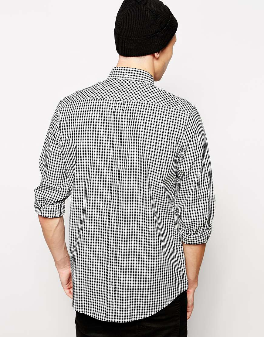 Ben Sherman Shirt With Gingham Check In Black For Men Lyst