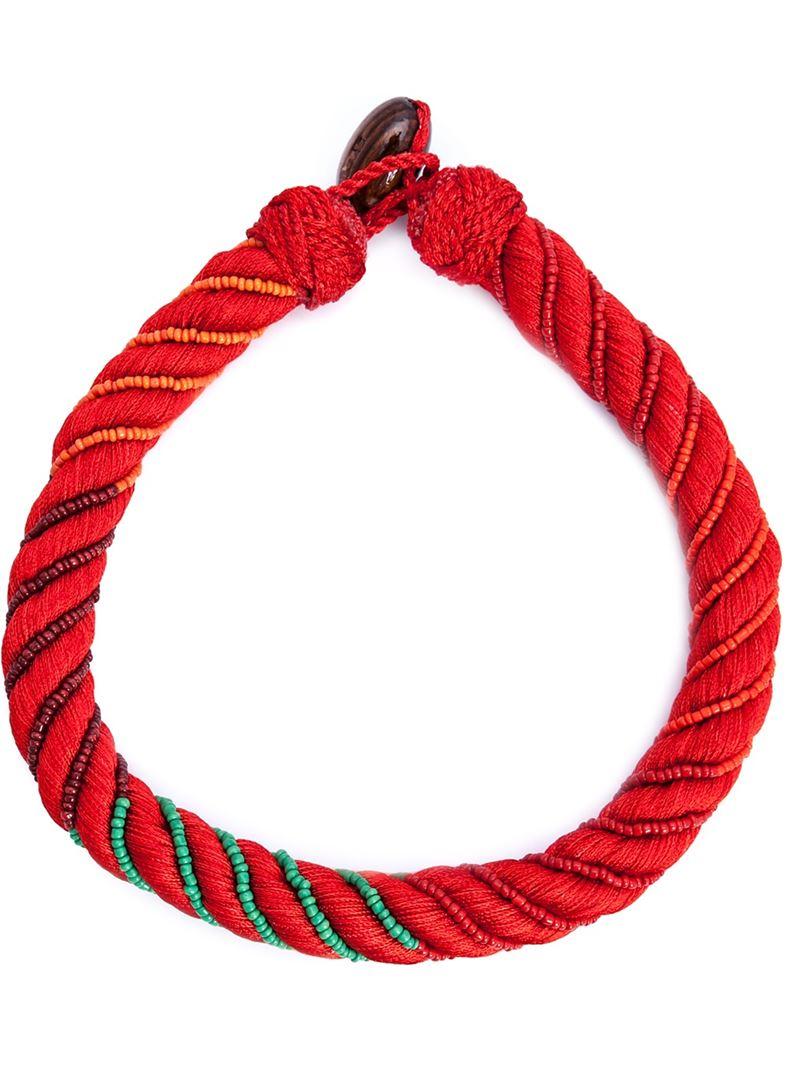 Aurélie Bidermann Maya necklace - Red G08c4m