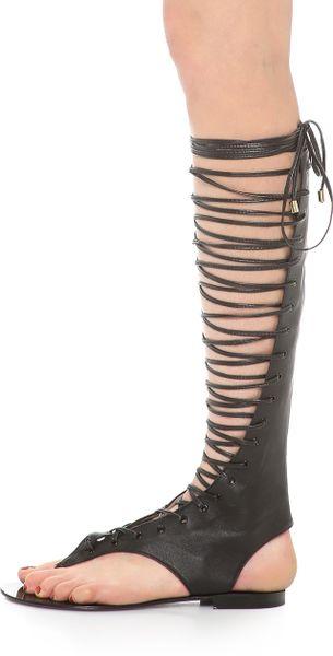 By Malene Birger Dali Tall Gladiator Sandals Black In
