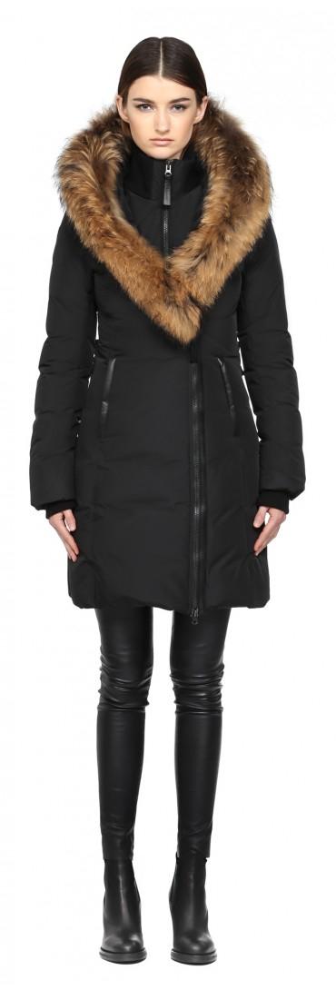 Mackage Kay-f5 Long Black Winter Down Coat With Fur Hood in Black ...