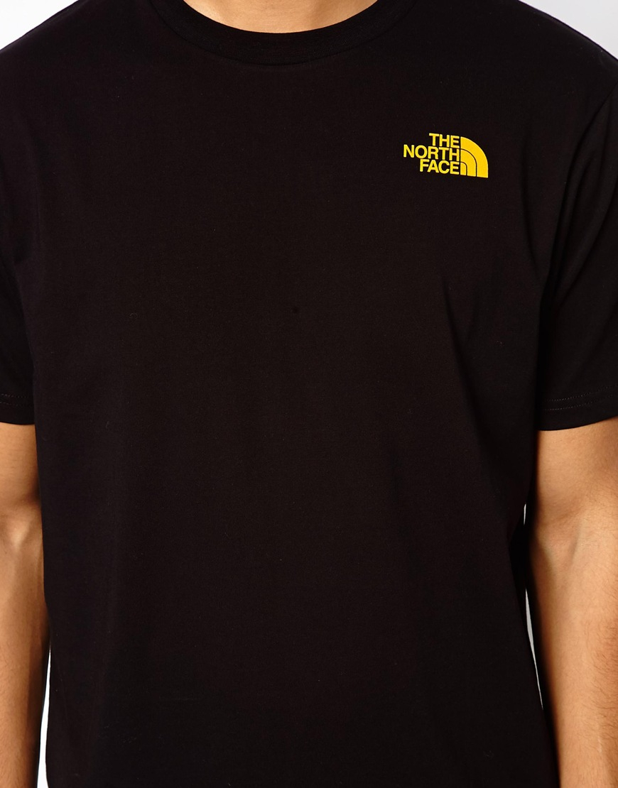 lyst the north face tshirt with chest logo in black for men. Black Bedroom Furniture Sets. Home Design Ideas