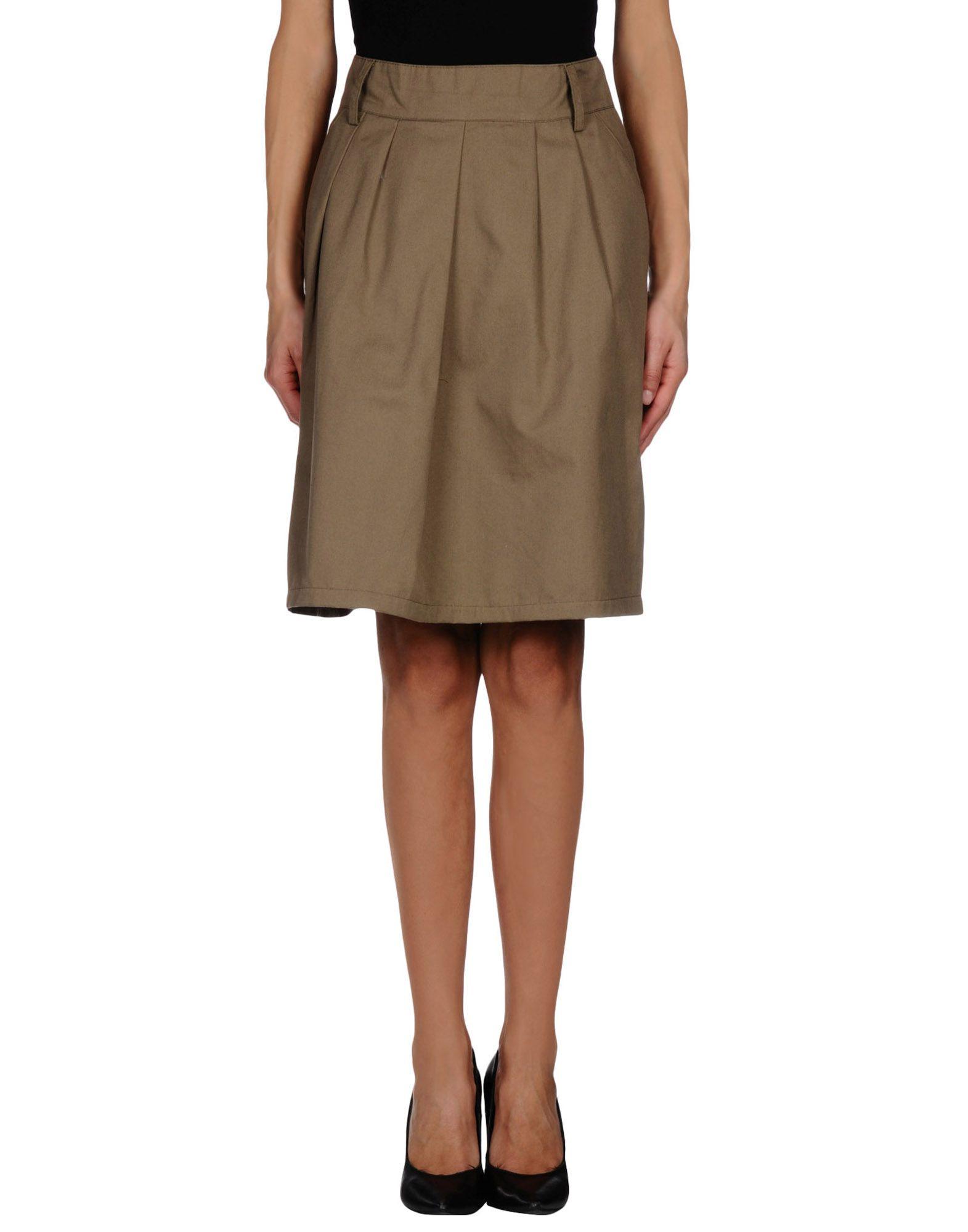 camo knee length skirt in green green save 59