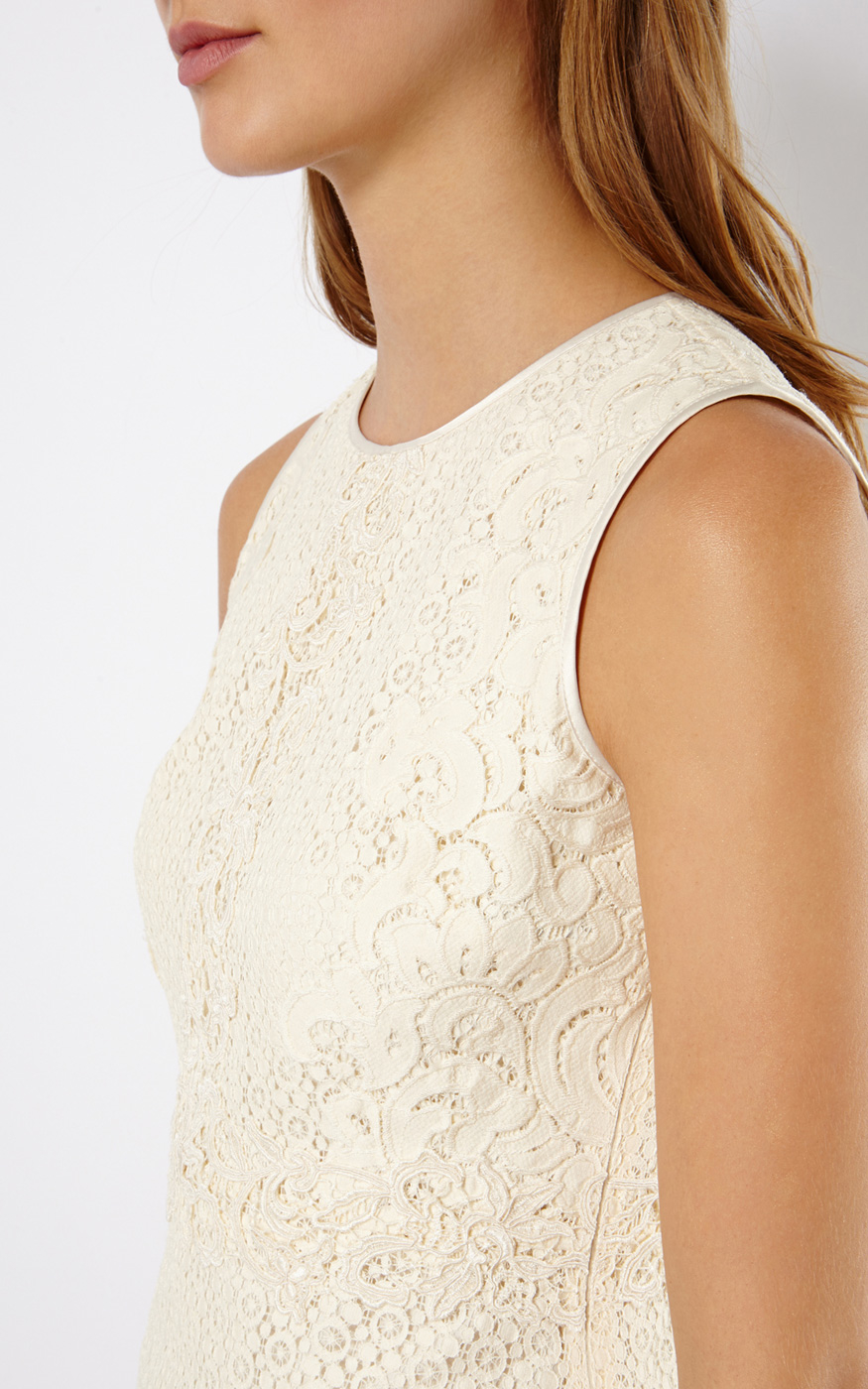 66e31e9fb3b923 Karen Millen Lace Top in White - Lyst