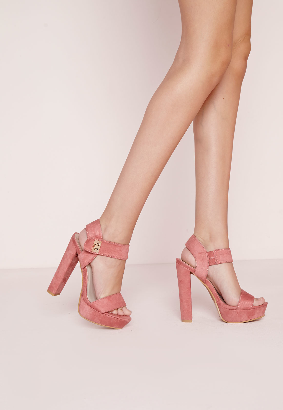 7cac34a769f5d6 Lyst - Missguided 70 s Platform Sandals Pink in Pink