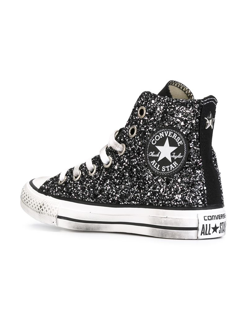 converse shoes glitter