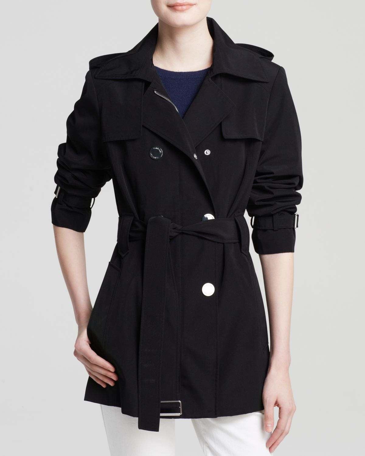 Buy Lapel Contrast Trim Double Breasted Trench Coats online with cheap prices and discover fashion Trench Coats at taradsod.tk
