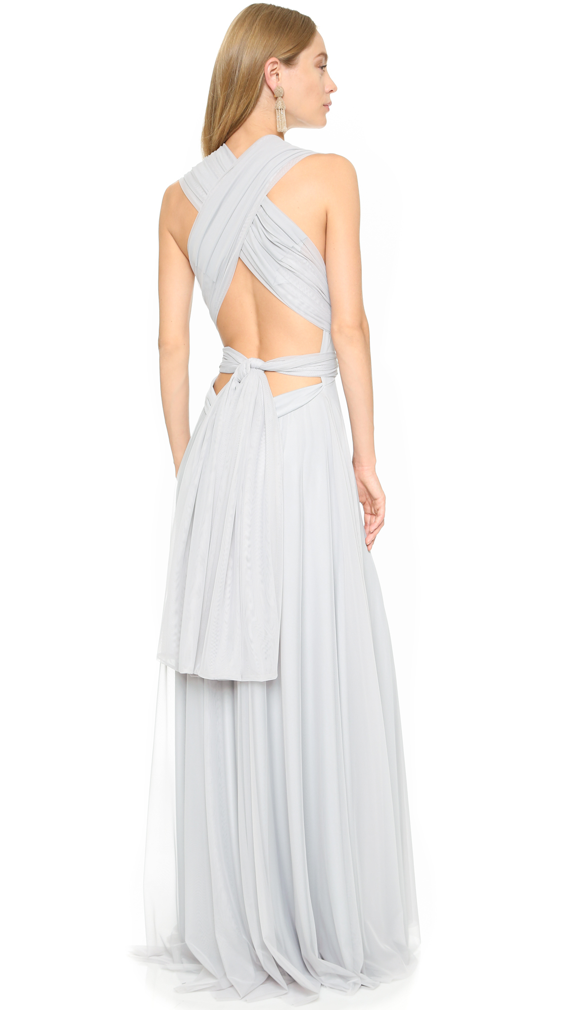 Twobirds Tulle Gown in Gray