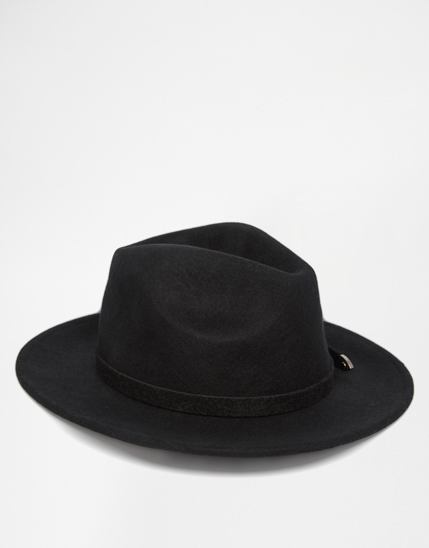 ca9af4672aa5fa ASOS Felt Panama Hat With Western Double Buckle Trim New Improved ...
