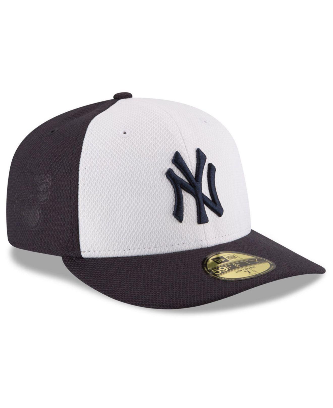 65887cc6cd9f0 Lyst - KTZ New York Yankees Low Profile Diamond Era 59fifty Cap in ...