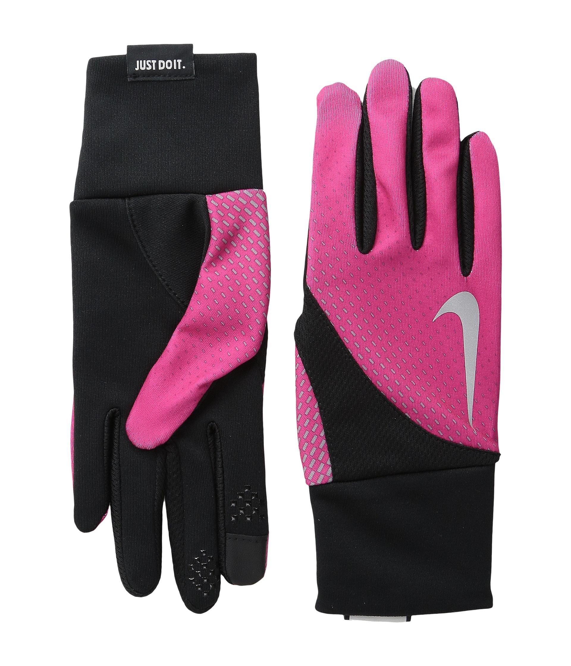 Nike Gloves Rn 56323: Nike Dri-fit Tailwind Run Gloves In Pink