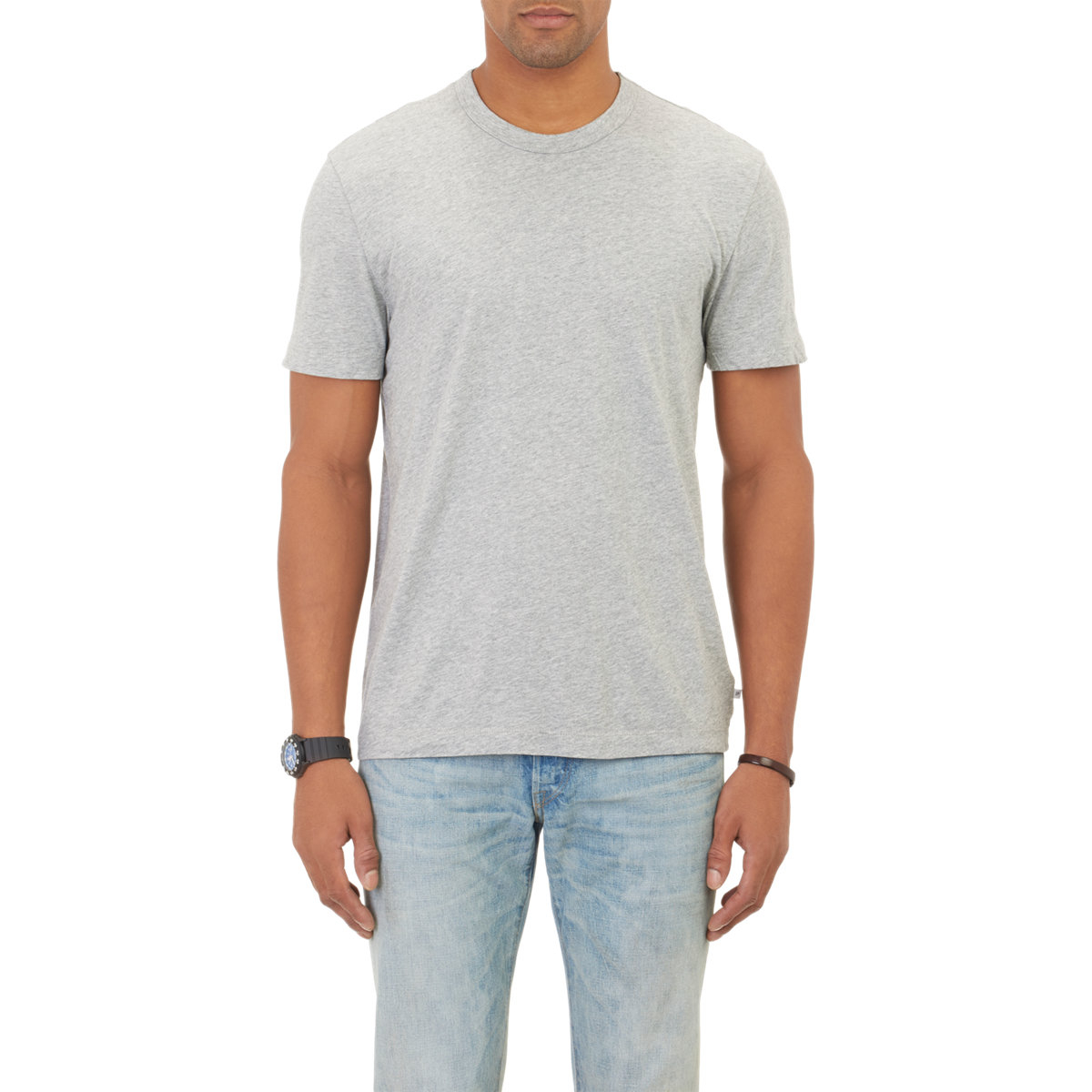 lyst james perse jersey t shirt in gray for men
