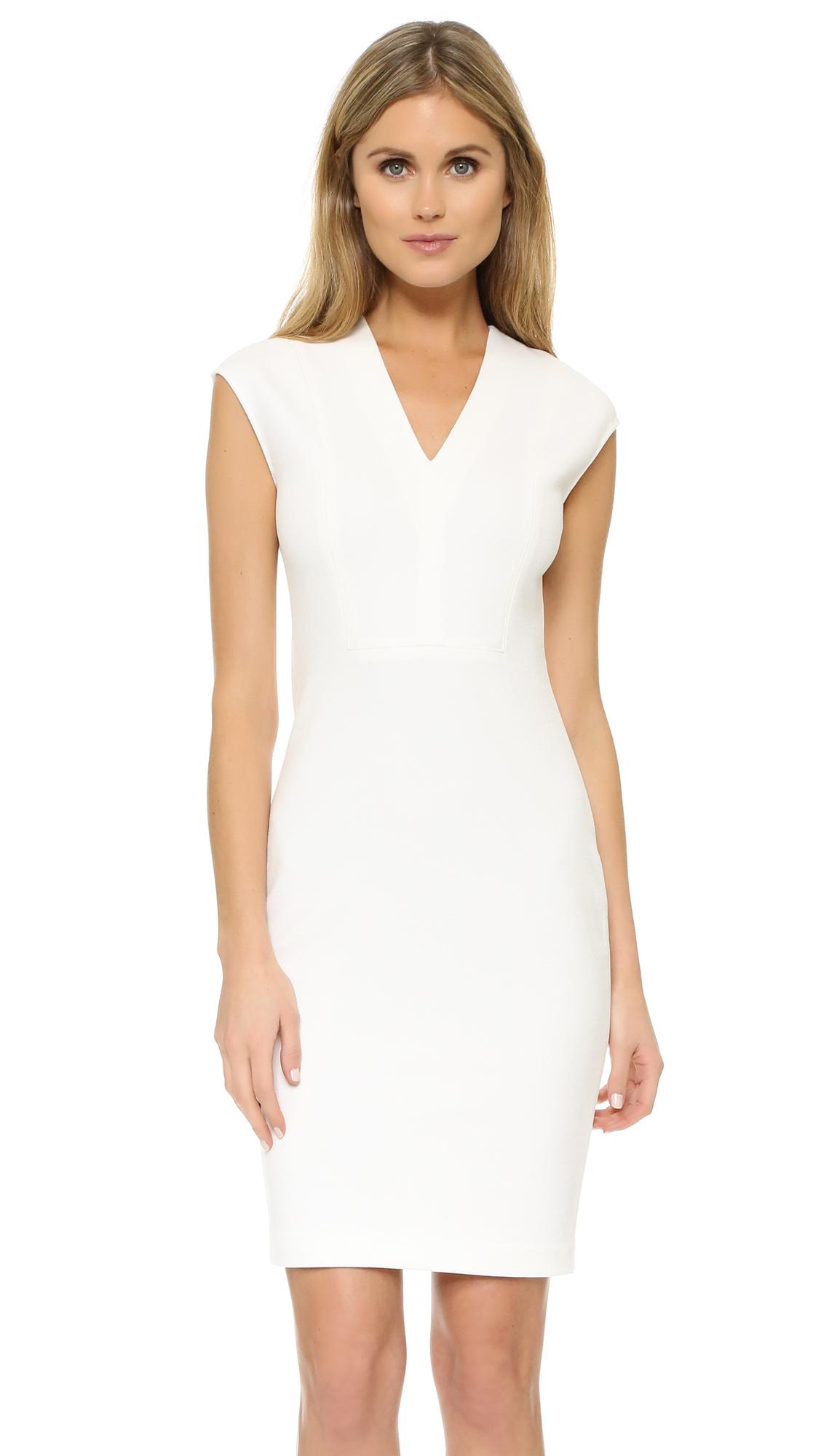 Lyst Vince V Neck Bib Sheath Dress In White