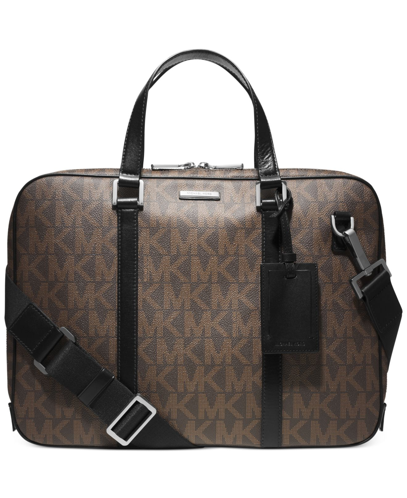 e0bcfea6c23e Lyst - Michael Kors Jet Set Slim Briefcase in Brown for Men