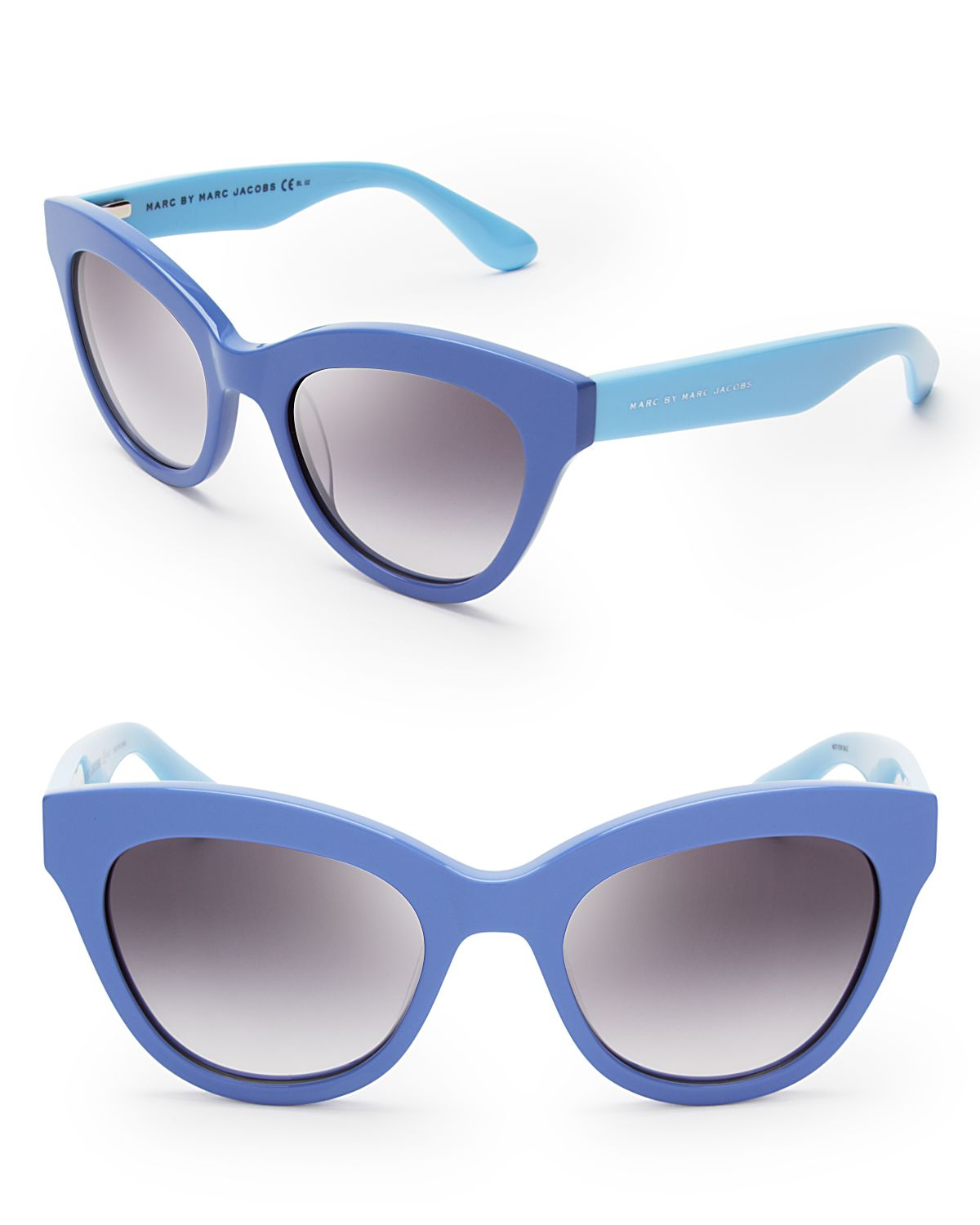 Marc By Marc Jacobs Cat Eye Sunglasses  marc by marc jacobs twotone cat eye sunglasses in blue lyst
