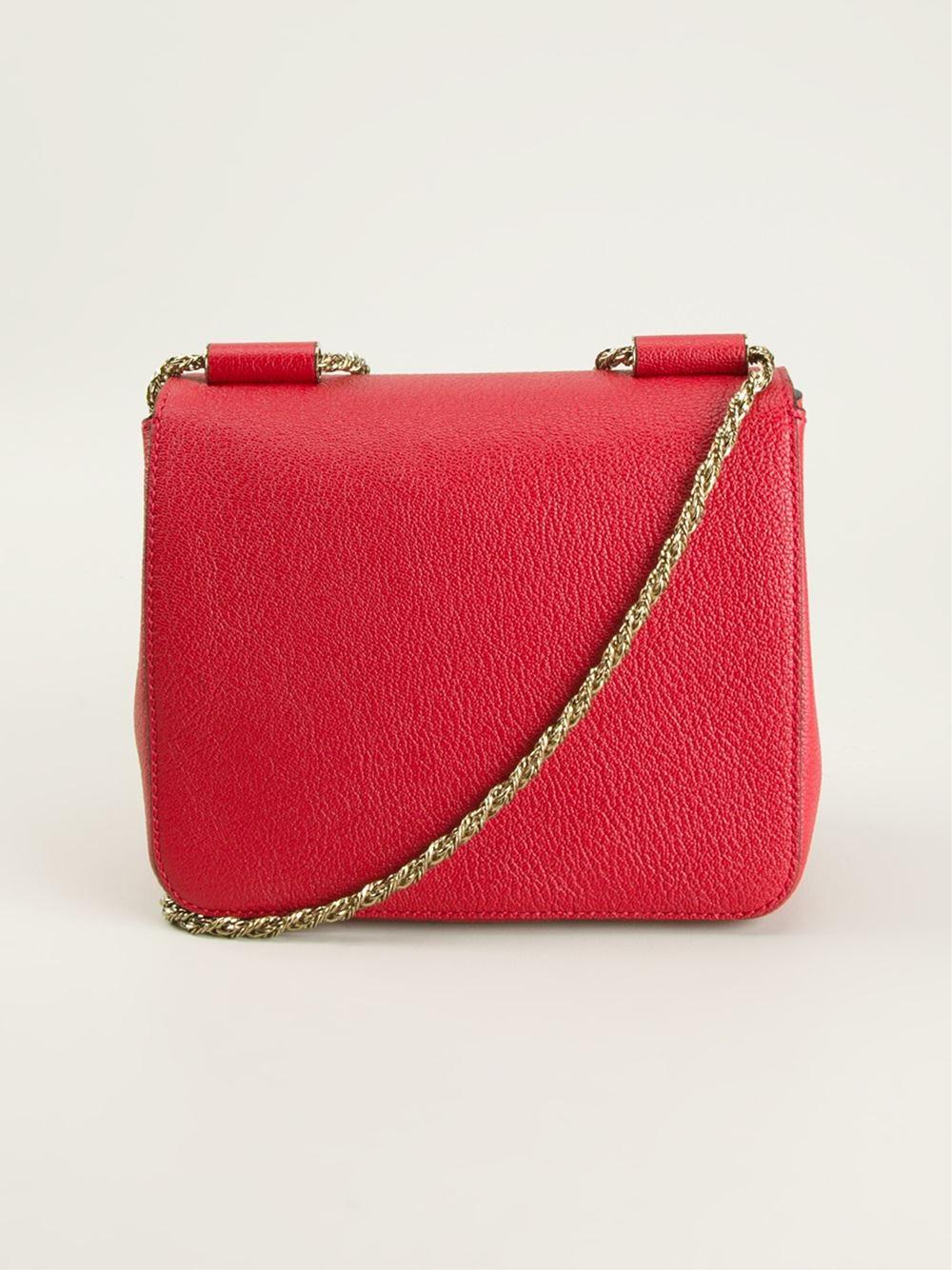 Chlo¨¦ Small \u0026#39;Elsie\u0026#39; Shoulder Bag in Red | Lyst