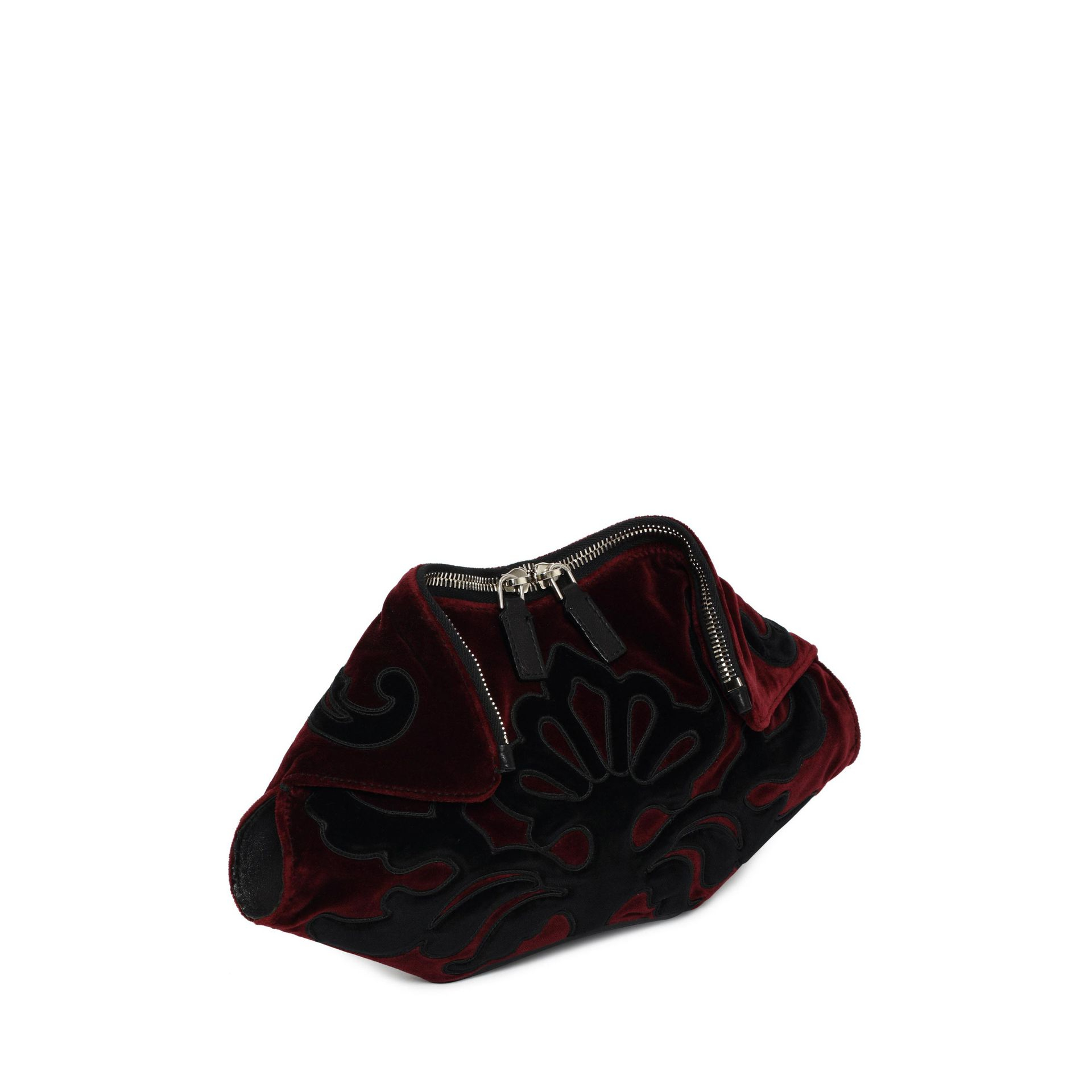 2f874eea3 Alexander McQueen Velvet Embroidered Small De Manta Clutch in Red - Lyst