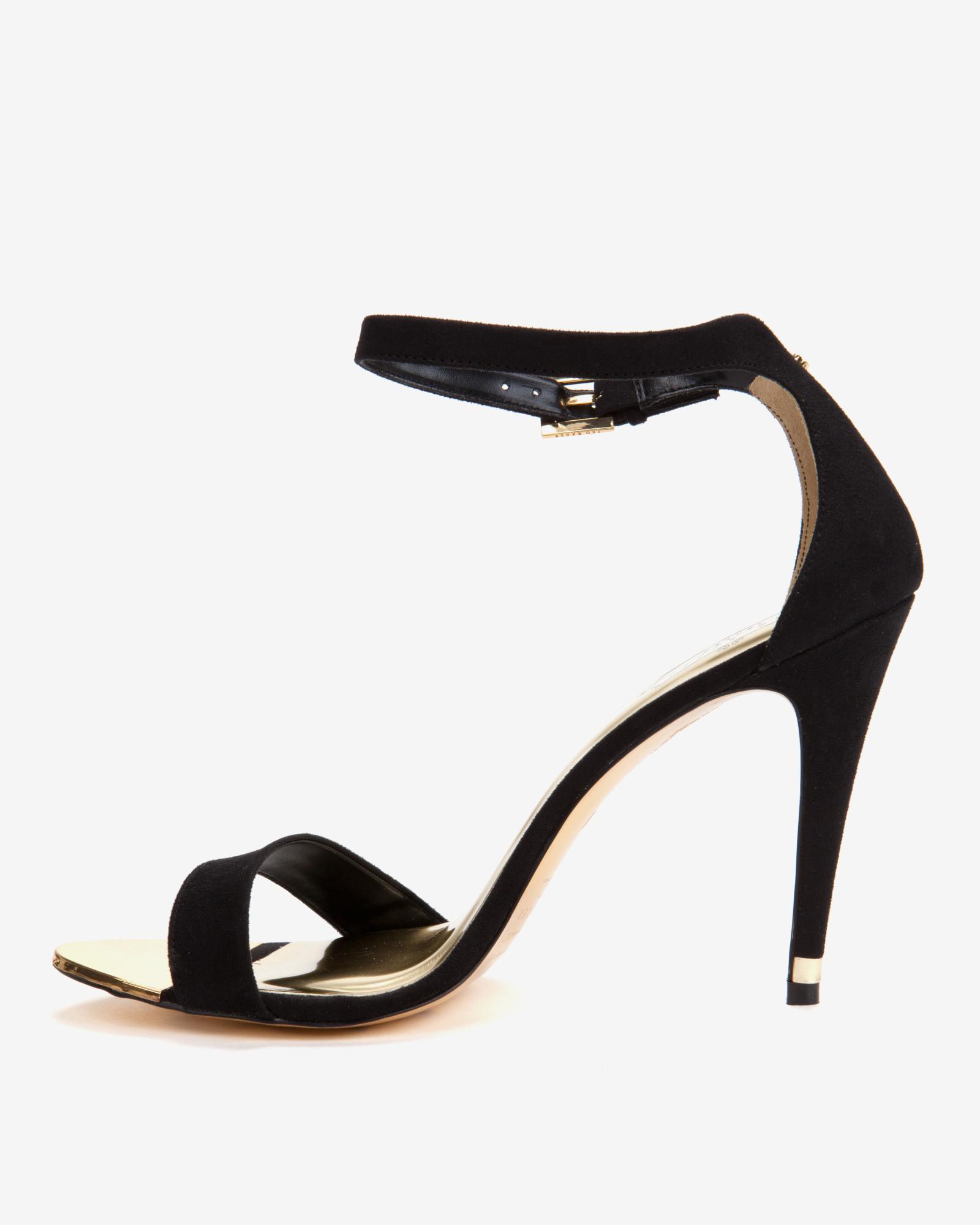 Ted Baker Ankle Strap Sandals in Black - Lyst