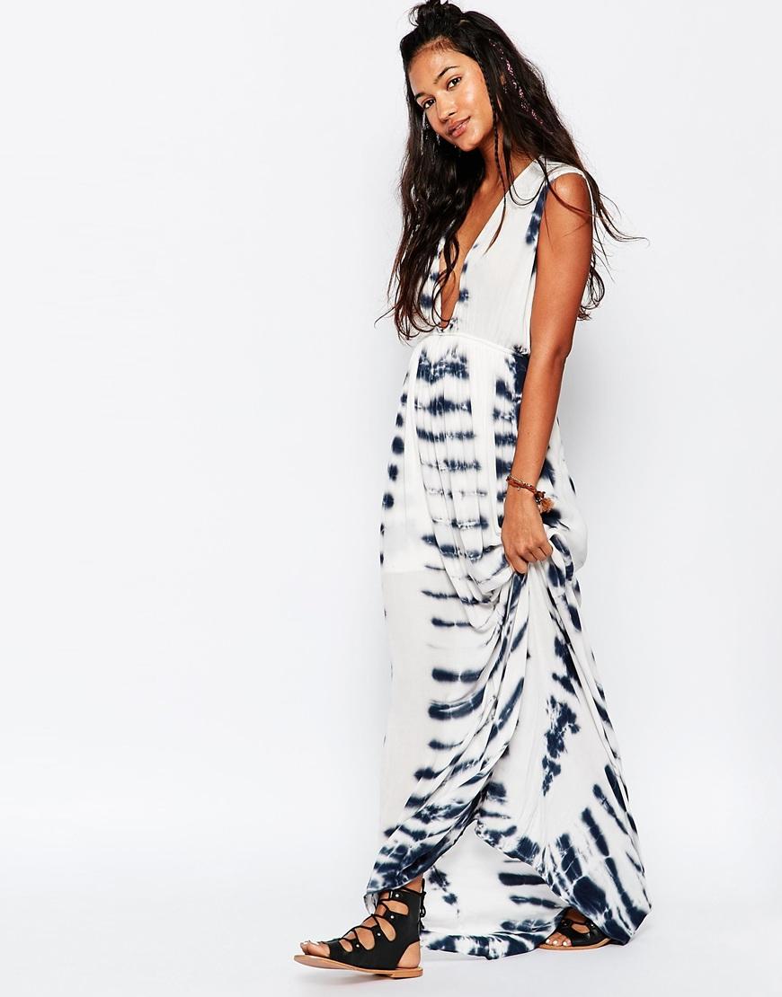 Lyst Surf Gypsy Tie Dye Beach Maxi Dress In Black